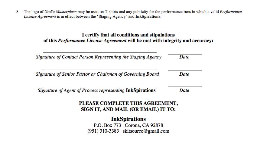 Performance License Agreement
