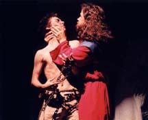 Jesus healing a demoniac.