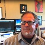 Keith Ward sitting in his studio.